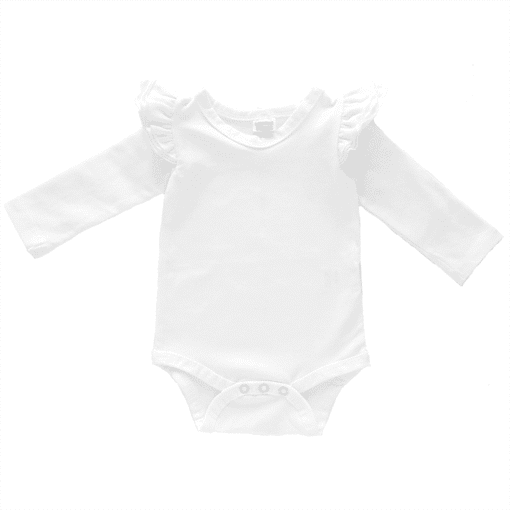 White Longsleeve Fluttersuit / Onesie