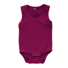 Wine Sleeveless Bodysuit
