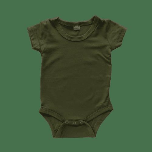 Army Green short sleeve bodysuit