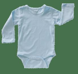 Baby Blue Long Sleeve Basic Bodysuit / Onesie