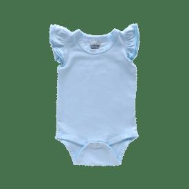 Baby Blue Basic Sleeveless Fluttersuit / Onesie