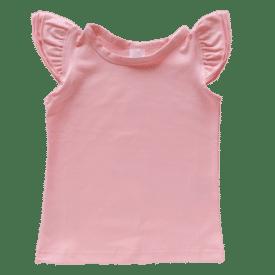 Baby Pink Sleeveless Flutter Top
