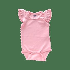 Baby Pink Basic Sleeveless Fluttersuit / Onesie