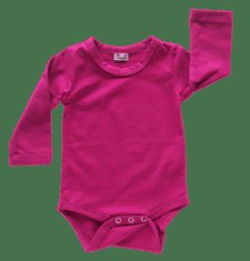 Berry Long Sleeve Basic Bodysuit / Onesie