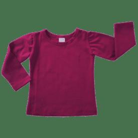 Berry Long Sleeve Basic Top