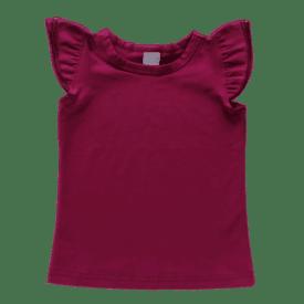 Berry Sleeveless Flutter Top