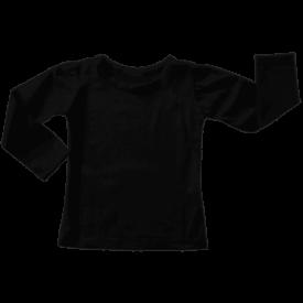 Black Long Sleeve Basic Top