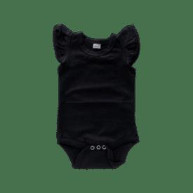 Black Basic Sleeveless Fluttersuit / Onesie
