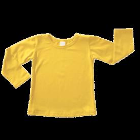 Bright Yellow Long Sleeve Basic Top