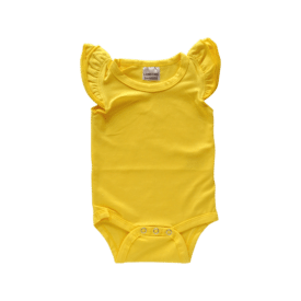 Bright Yellow Basic Sleeveless Fluttersuit / Onesie