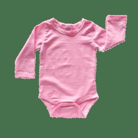Bubblegum Pink Long Sleeve Basic Bodysuit / Onesie