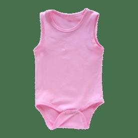 Bubblegum Pink Sleeveless Bodysuit / Onesie