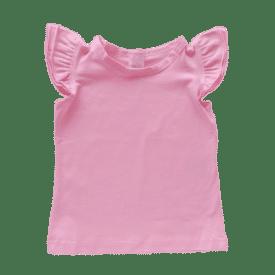 Bubblegum Pink Sleeveless Flutter Top