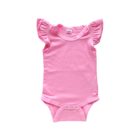 Bubblegum Pink Basic Sleeveless Fluttersuit / Onesie