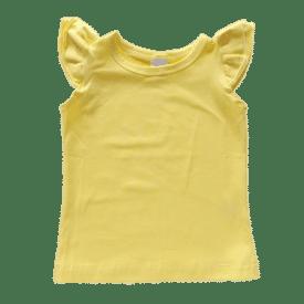 Butter Yellow Sleeveless Flutter Top