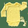 butter-yellow-long sleeve bodysuit
