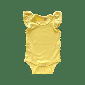 Butter Yellow Basic Sleeveless Fluttersuit / Onesie