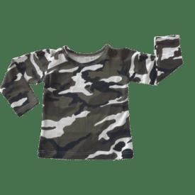 Camo Long Sleeve Basic Top