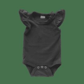 charcoal Sleeveless Fluttersuit
