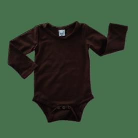 coffee long sleeve bodysuit
