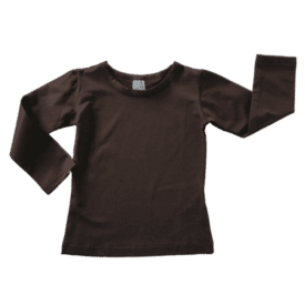 Coffee Long Sleeve Basic Top