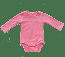Coral Long Sleeve Basic Bodysuit / Onesie