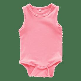 Coral Sleeveless Bodysuit