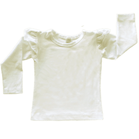 Cream Long Sleeve Winter Fluttertop