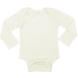 Cream Long Sleeve Envelope Bodysuit