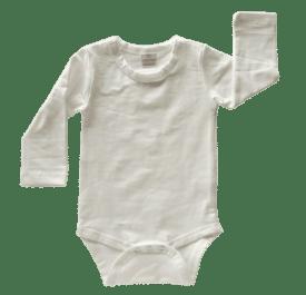 Cream Long Sleeve Basic Bodysuit / Onesie