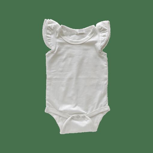Cream Basic Sleeveless Fluttersuit / Onesie