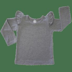 Dark Frosted Grey heather grey fluttertop