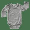 Dark Frosted Grey Long Sleeve Basic Bodysuit / Onesie