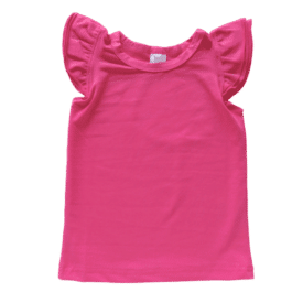 Dark Pink Sleeveless Flutter Top