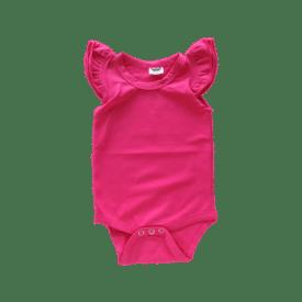 Dark Pink Basic Sleeveless Fluttersuit / Onesie