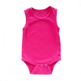 dark-pink-sleeveless-onesie-bodysuit