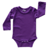 Dark Purple Long Sleeve Basic Bodysuit / Onesie
