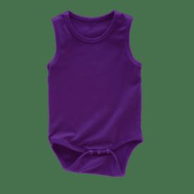 Dark Purple Sleeveless Bodysuit / Onesie
