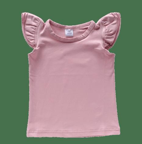 Dusty Pink Sleeveless Flutter Top