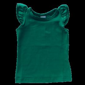 Emerald Green Sleeveless Flutter Top