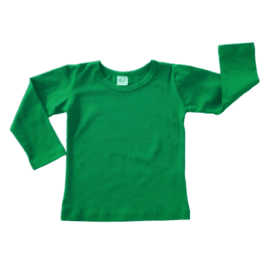 Forest Green Long Sleeve Basic Top