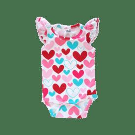 Hearts Basic Sleeveless Fluttersuit / Onesie