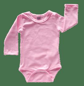 Icy Pink Long Sleeve Basic Bodysuit / Onesie
