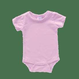 Icy Pink Short Sleeve Basic Bodysuit