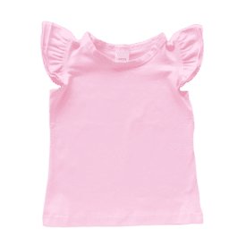 Icy Pink Sleeveless Flutter Top