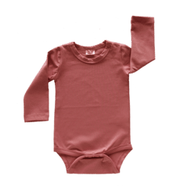 Indian red long sleeve bodysuit