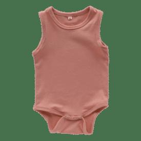 Indian Red Sleeveless Bodysuit