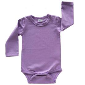 Lavender Long Sleeve Basic Bodysuit / Onesie