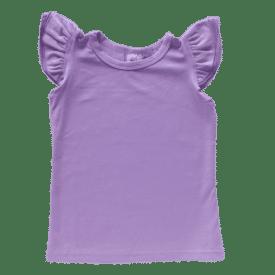 Lavender Sleeveless Flutter Top