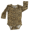 Leopard Long Sleeve Basic Bodysuit / Onesie